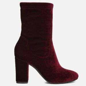 Kenneth Cole New York Alyssa Velvet Boot Wine 7